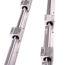 RU CN חינם 2Pcs SBR16 300 SBR16 400 SBR16 500 SBR16 1000 Mm רכבת ליניארי באופן מלא נתמך פיר מוט עם 4x SBR16UU בלוק