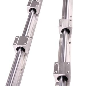 Image 1 - RU CN חינם 2Pcs SBR16 300 SBR16 400 SBR16 500 SBR16 1000 Mm רכבת ליניארי באופן מלא נתמך פיר מוט עם 4x SBR16UU בלוק