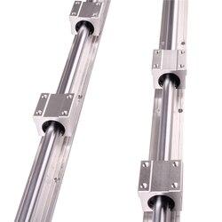 RU CN wysyłka 2 sztuk SBR16 300 SBR16 400 SBR16 500 SBR16 1000 Mm liniowe szyny w pełni obsługiwane pręt wału z 4x SBR16UU bloku w Prowadnice liniowe od Majsterkowanie na