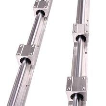 Ru cn transporte 2 pçs SBR16 300 SBR16 400 SBR16 500 SBR16 1000 mm trilho linear totalmente suportado haste do eixo com 4x sbr16uu bloco