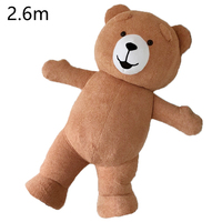 Halloween Unisex 2.6M Inflatable Teddy Bear Mascot Costume Suits Adult Cosplay Advertising Party Game Dress Girls Mascot New