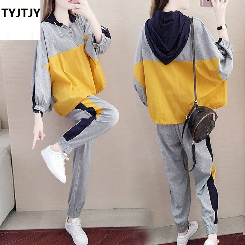 Containing Cotton Fashion Spring And Autumn Casual Tracksuit For Women 2019 New Loose Korean Version Was Thin And Foreign Style