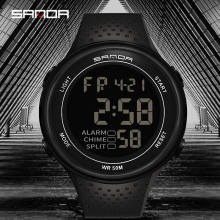 SANDA Outdoor Fashion Luminous Sports Electronic Watch Multi-function Personalized Mens Watches Waterproof Montre homme