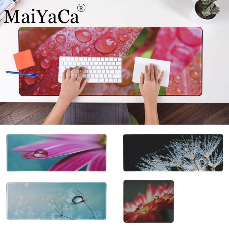 MaiYaCa High Quality Funny Waterdrop and flower Rubber Mouse Durable Desktop <font><b>Mousepad</b></font> <font><b>large</b></font> big 40*90cm <font><b>mousepad</b></font> for cs go lol image