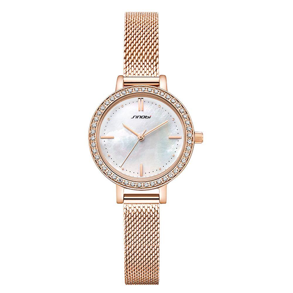 SINOBI New Women Luxury Top Brand Watch Simple Quartz Lady Waterproof Wristwatch Female Fashion Casual Watches Clock Reloj Mujer in Women 39 s Watches from Watches