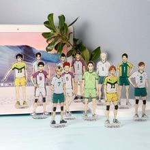 Desk-Plate-Models Haikyuu-Figures Acrylic-Stand Anime Model-Toys Desk-Decor-Ornaments