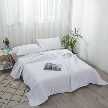 Air conditioning quilt 4 piece Quilted solid bed cover Sheets Pillowcase pillowslip pillow cover Four seasons available Quilting