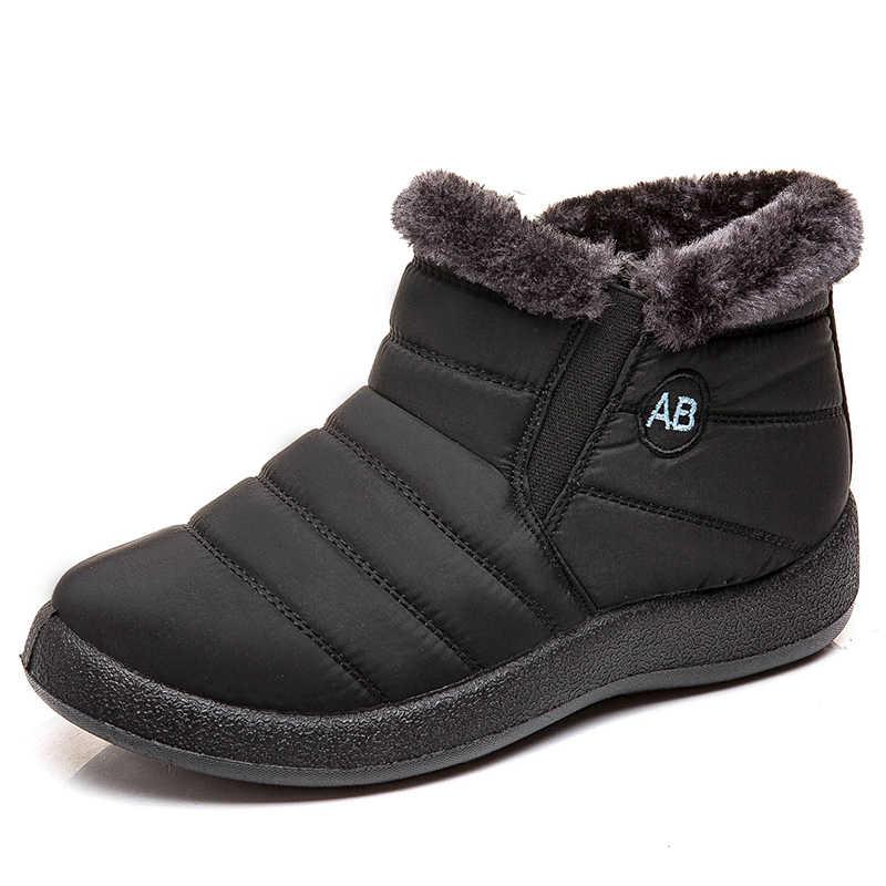 Donne Stivali Più Il Formato 43 Stivali Da Neve Impermeabili Slip On Scarpe Invernali Donna Caldo Trapuntato Stivali Alla Caviglia Botas Mujer Inverno calzature
