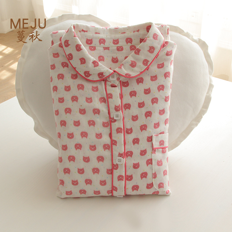 New Style Cotton Women's Sweet Cute Pajamas Japanese-style Homewear Set