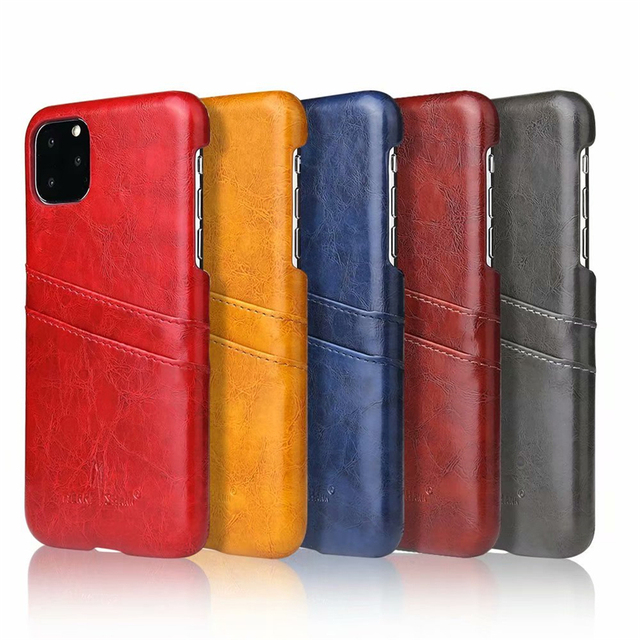 Slim Hard Leather Card Holder Case for iPhone 11/11 Pro/11 Pro Max 5