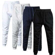 Мужские хлопковые спортивные брюки для бега на весну и осень, мужские повседневные эластичные брюки для фитнеса, мужские флисовые теплые зимние спортивные штаны