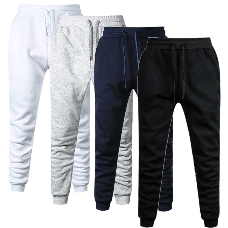 Men Cotton Jogger Gyms Pants Spring Autumn Male Casual Elastic Fitness Baggy Trousers Mens Fleece Warm Winter Sweatpants