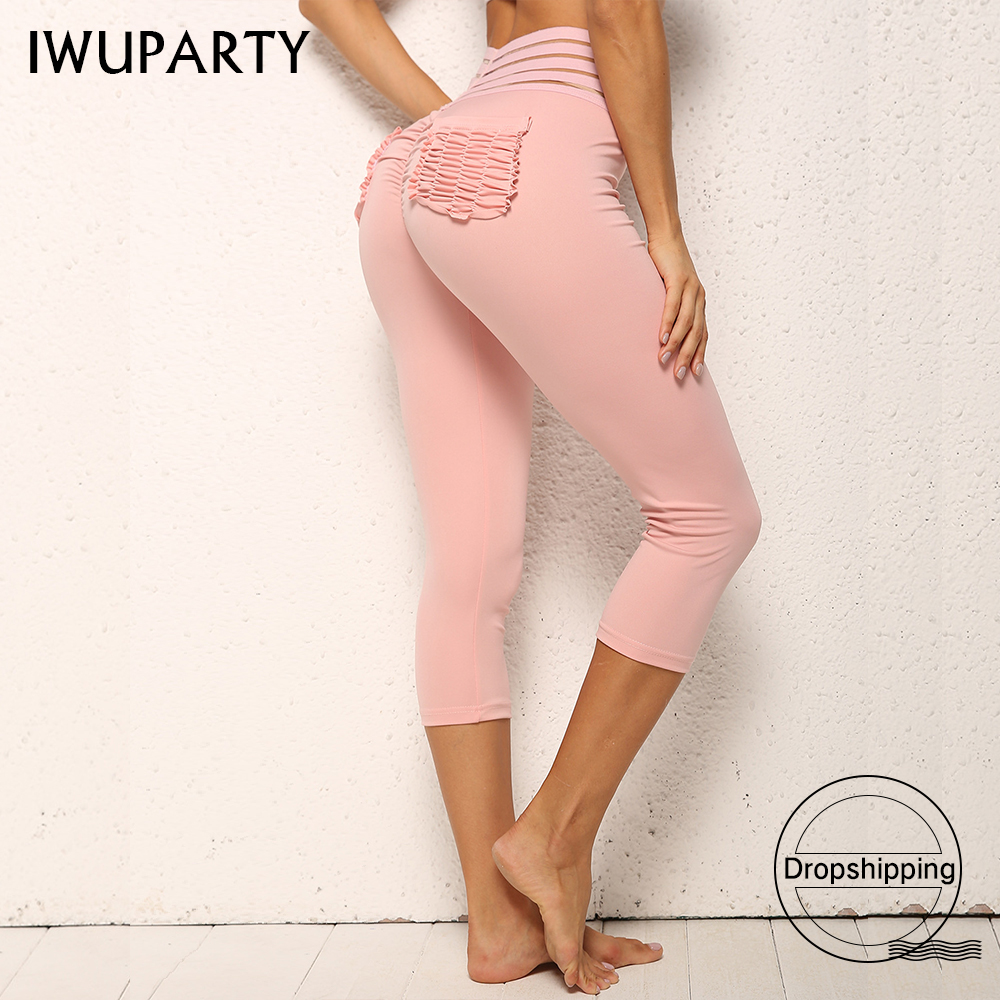 New Fashion Butt Pockets Fitness Sport Leggings Women Slim High Waist Running Legins Femme Scrunch Gym Workout Compression Pants