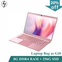 LHMZNIY DDR4 8 ГБ ОЗУ все металлические 14,1 дюйма 256 ГБ SSD Intel N4100 ноутбук 1920x1080 дисплей ультра-тонкая клавиатура с подсветкой для офиса