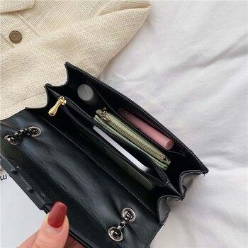 Rivet Chain Brand Designer PU Leather Crossbody Bags For Women 2021 Simple Fashion Shoulder Bag Lady Luxury Small Handbags 5
