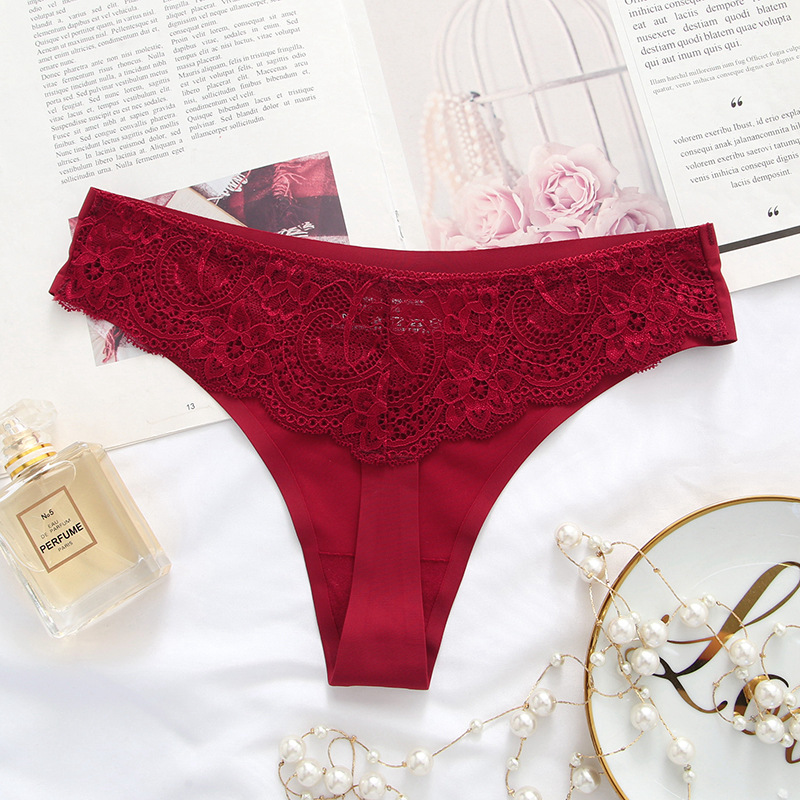 Female Intimates Sexy Underwear Lace T-back Panties Women Thongs G String Culotte Sexy Lingerie