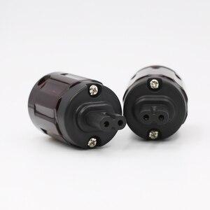 Image 2 - Hifi C 079 דמות 8 IEC C7 Plug אודיו כבל חשמל IEC נקבה חשמל תקע שקע מתאם מחבר