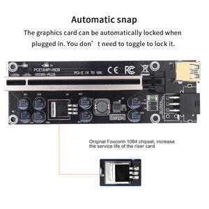 Image 5 - 10pcs TISHRIC VER009S בתוספת Riser 009s PCI E PCIE 6in PCI Express X16 GPU מתאם כרטיס Molex USB 3.0 כבל 1X 16X Extender