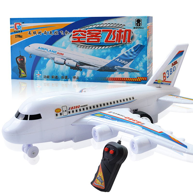 Manufacturers Direct Selling A380 Electric Airplane Children Remote Control Air Bus Model Space Shuttle Plastic Toy