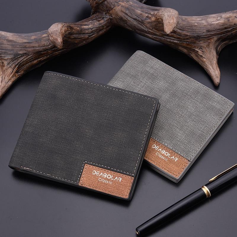 2019 Minimalist Men's Short Wallet Retro Youth Wallet Ultra-thin Men's Cross-section Wallet Men's Wallet Wholesale Price