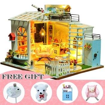 Casa Doll House Furniture Miniature Dollhouse DIY Miniature House Room Box Theatre Toys for Children Casa Dollhouse S01A фото