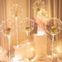 1 pièces LED ballons support avec 20 lumière ballons transparents décorations de noël pour la maison de mariage décor fête danniversaire fournitures