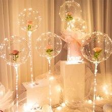 1Pcs Led Ballonnen Stand Met 20 Licht Transparante Ballonnen Kerst Decoraties Voor Thuis Bruiloft Decor Verjaardag Feestartikelen
