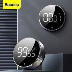 Baseus LED cyfrowy zegar kuchenny do gotowania prysznic Study Alarm stoper zegar magnetyczna elektroniczna do gotowania odliczanie czasu w Gadżety USB od Komputer i biuro na