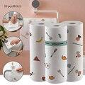50 pces/pano de limpeza do rolo pano de limpeza macio lavável toalha de papel de limpeza descartável para o trabalho doméstico da cozinha