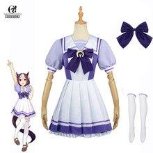 Rolecos anime uma musume bonito derby cosplay traje uma musume toukai teiou escola marinheiro uniforme cosplay trajes lolita