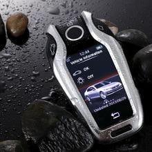 חדש אלומיניום סגסוגת רכב LED תצוגת מפתח כיסוי מקרה עבור BMW 5 7 סדרת G11 G12 G30 G31 G32 i8 i12 I15 G01 X3 G02 X4 G05 X5 G07 X7