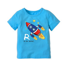 Boys Summer Short-sleeved T-shirt Cotton Top Fashion Tide  Short 2020 New Cartoon Printed Kid Clothes