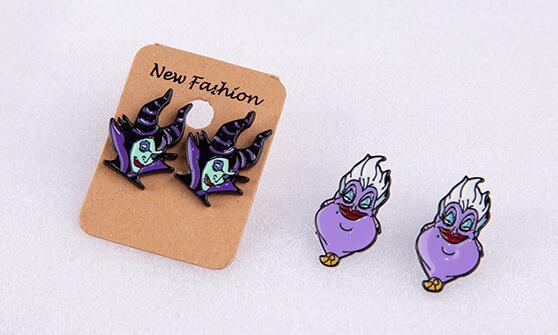 Nouveau lot 50 paires Ursula méchants maléfiques femmes fille mode dessin animé Stud boucle d'oreille mignon boucles d'oreilles pour femmes fille fête cadeaux M-01