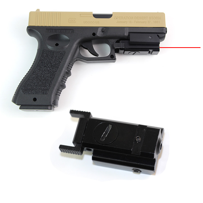 Tactical Red Dot Laser Sight Scope For Glock 17 19 And 20mm Rail Hand Gun Red Dot Scope With 20mm Mount Hunting Accessories