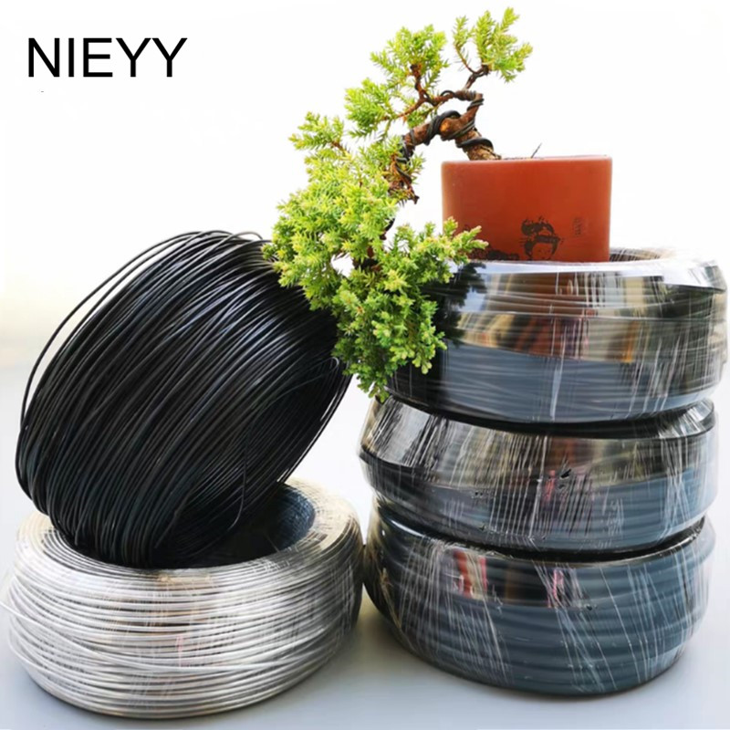 1mm-8mm Metal Aluminum Wire Bonsai Modeling Material Aluminum Wire Gardening Tools Pot Bonsai Shape Aluminum Wire 500G/Rol