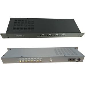 Кабельный ТВ аналоговый прилегающий модулятор частоты, 4-канальный AV к RF, ТВ переднее оборудование для отелей