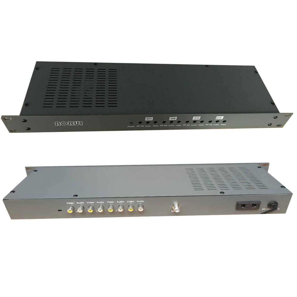 Cable TV Analog Adjacent Frequency Modulator, 4-channel AV To RF, TV Front-end Equipment For Hotels