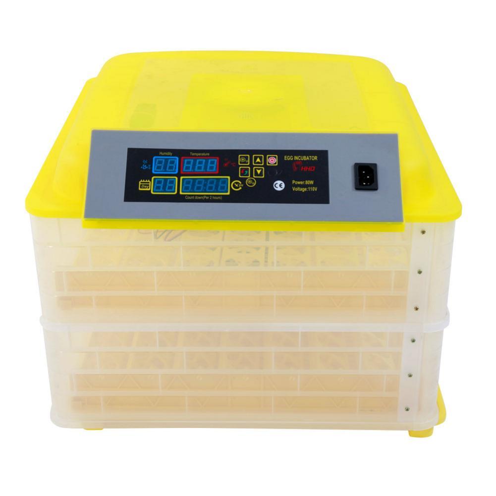 Бесплатная доставка, 110 В переменного тока, инкубатория для птицы, 96 цифровой инкубатор температуры, полностью автоматический инкубатор яиц для курицы, утки, перепелиного попугая
