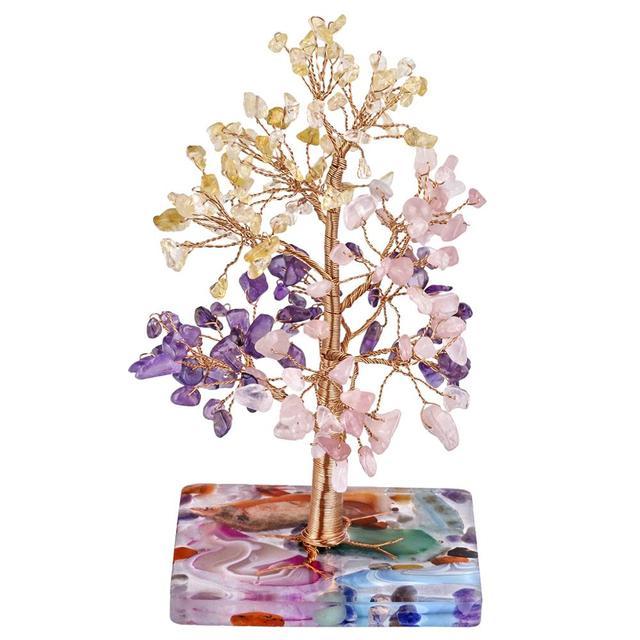 Купить натуральное лечебное хрустальное дерево tumbeelluwa с агатом