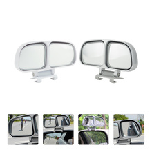 2 szt Lusterko cofania samochodu regulowane lusterko wsteczne (lewe i prawe) tanie tanio CN (pochodzenie) Blind Spot Mirror Rear View Double-Mirror Side Mirror for Blind Spot Adjustable Rearview Mirror Car Rear View Mirror