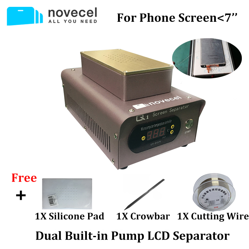 NOVECEL Q1 Professional LCD Separator Machine Dual Built in Pumps Screen Glass Removing Machine for iPhone Samsung HUAWEI Repair-in Screen Seperator Machine from Cellphones & Telecommunications