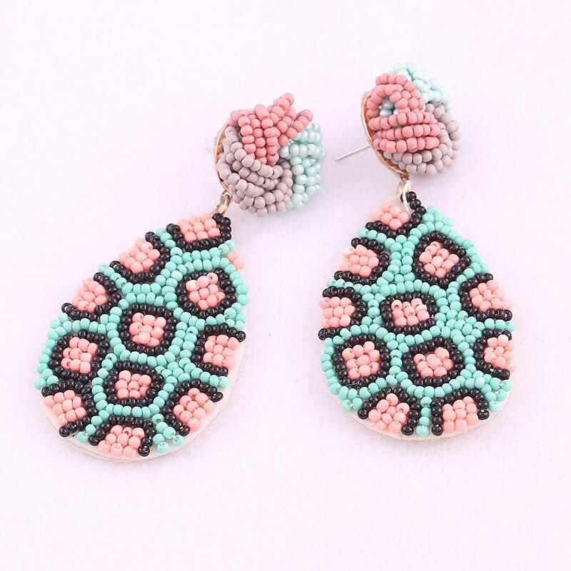 Earrings for women boho drop earrings red oorbellen 2
