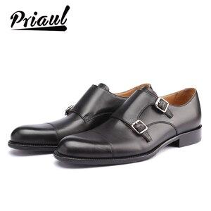 Мужские классические туфли ручной работы, из натуральной кожи, в винтажном стиле, в стиле ретро, для офиса, свадьбы, вечеринки