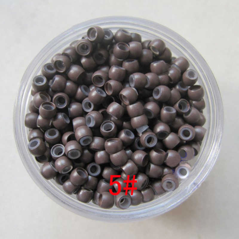 500pcs/bag Professional High Quality Silicone  Micro Ring Lined Nano Rings Micro Beads Hair Extensions Loop 3MM NEW
