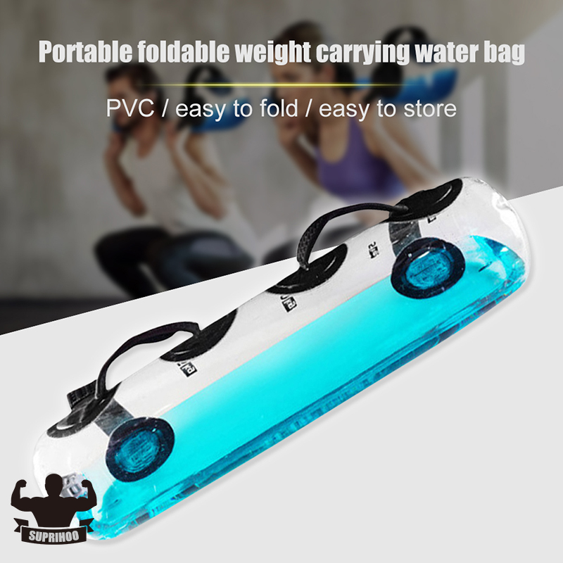 Water Filled Weight Bearing Portable Water Bag Fitness Core Strength Training Balance/Unstable Muscle Group Exercise Equipment