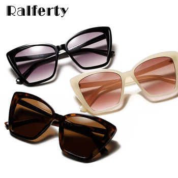 цена на Ralferty Brand Designer Cat Eye Sunglasses Women Luxury Plastic Sun Glasses Classic Retro Outdoor Oculos De Sol Gafas
