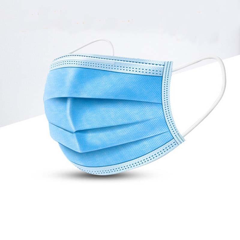 10pcs Men Women Adult Cotton Anti Dust Mask 3 Layers Soft Breathable Mouth Mask Proof Flu Face Masks Mascaras Faciales