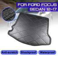 Ford Focus Sedan için 2012 2013 2014 2015 2017 araba arka bagaj önyükleme Mat su geçirmez paspaslar halı anti çamur tepsi kargo astarı