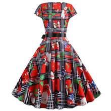 Рождественское платье женская одежда для вечерние рождественское