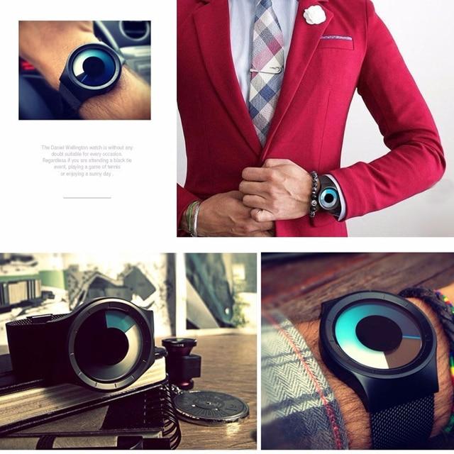 Creative Quartz Watches Men Top Luxury Brand Casual Stainless steel Mesh Band Unisex Watch Clock Male female Gentleman gift 3